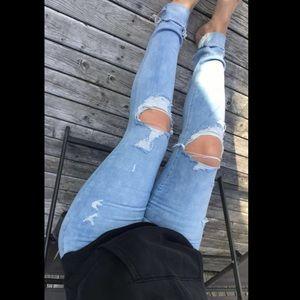 AE super stretch skinny jegging jeans